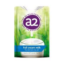 1袋*澳洲A2全脂奶粉成人奶粉袋装高钙全脂高蛋白奶粉进口牛奶1kg(新旧包装随机发货)【香港直邮】