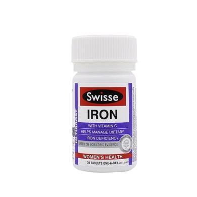 【支持購物卡】澳洲Swisse 養血補鐵片鐵元 30粒 免疫調節