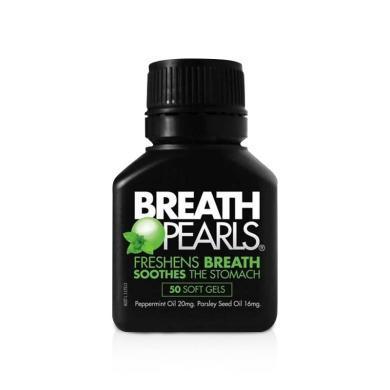 【支持購物卡】澳洲Breath Pearls口氣清新珠50粒 口氣終結者 腸胃肝臟
