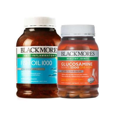 【支持购物卡】BLACKMORES/澳佳宝 组合装 原味深海鱼油 400粒 + 维骨力关节灵 180片 组合装进口保健品
