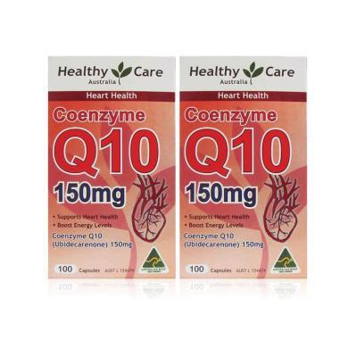 【支持購物卡】【2瓶】澳洲Healthy Care Q10心臟輔酶150mg  ?;ば腦?100粒 心腦血管
