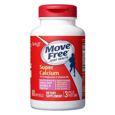 【支持购物卡】1瓶*美国Schiff旭福进口Move free超级液体钙?#29992;?#21152;维生素D3钙片90粒   香港直邮
