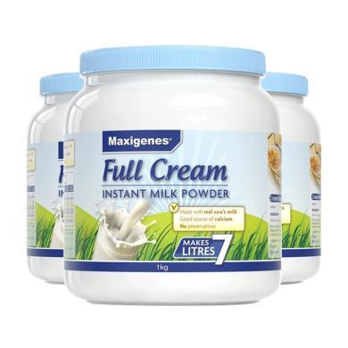 【支持購物卡】3罐*澳洲 美可卓藍胖子 Maxigenes 成人高鈣全脂奶粉 1kg/罐
