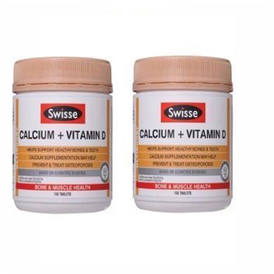 【支持購物卡】2瓶*澳大利亞SWISSE/瑞思 鈣片+維生素D孕婦青少年中老年成人補鈣150