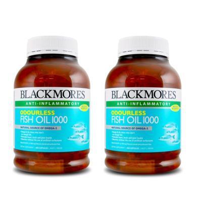 【支持購物卡】【2瓶】澳洲Blackmores澳佳寶深海魚油膠囊400粒(無腥味) 心腦血管 進口保健品 保質期2021年1月