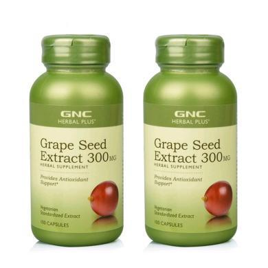 【支持購物卡】【2瓶】美國GNC健安喜葡萄籽300mg 100粒 美容養顏