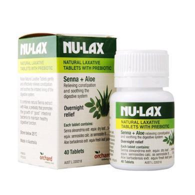 【支持購物卡】澳洲NU-LAX樂康膏 樂康片 潤腸腸道順暢 40片 腸胃肝臟