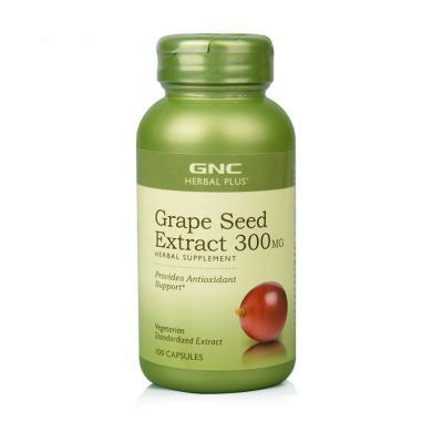 【支持购物卡】美国GNC健安喜葡萄籽300mg 100粒 美容养颜