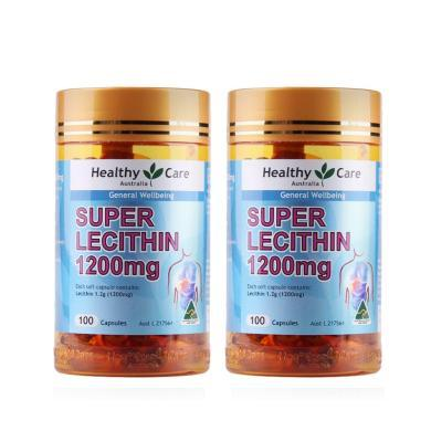 【支持购物卡】【2瓶】澳洲Healthy Care 大豆卵?#23383;?200mg 100粒 辅助降血脂 心脑血管