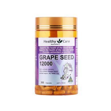 【支持購物卡】澳洲Healthy Care 葡萄籽皙顏精華膠囊 300粒 美容養顏