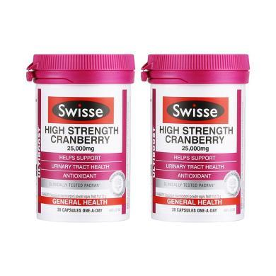 【支持购物卡】2瓶*澳大利亚 Swisse 蔓越莓胶囊 30粒/瓶