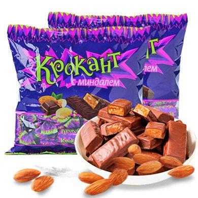 KDV 紫皮糖500g*2 俄羅斯巧克力進口巧克力糖果喜糖年貨休閑巧克力零食