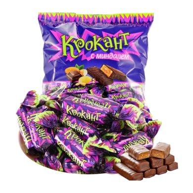 【滿199減100】KDV 紫皮糖500g*1袋 巧克力俄羅斯進口糖果巧克力喜糖年貨休閑零食巧克力