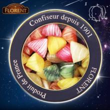 法国进口糖果费罗伦十二星座进口硬糖果四角水果糖(双子座)250g