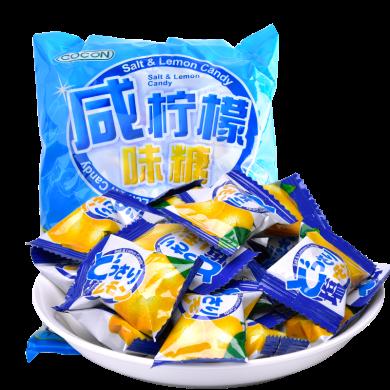 马来西亚进口 可康cocon咸柠檬糖500g硬糖 喜糖 水果糖 进口糖果 休闲零食品 年货