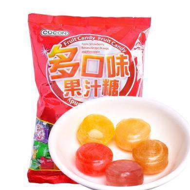 馬來西亞進口 可康cocon多口味果汁糖500g袋裝 硬糖 婚慶喜糖 水果糖 進口糖果 休閑 年貨