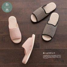 朴西室内防滑耐磨厚底防臭棉麻拖鞋