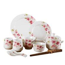 順祥輕盈曼舞12頭家庭陶瓷餐具套裝 創意家用餐具 陶瓷碗