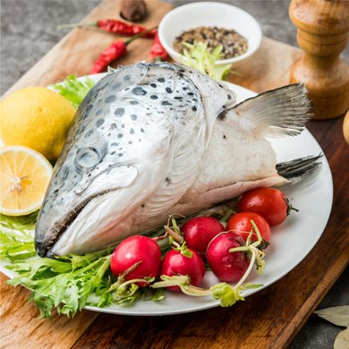 崇鲜进口三文鱼头500g-800g/个鱼头*3