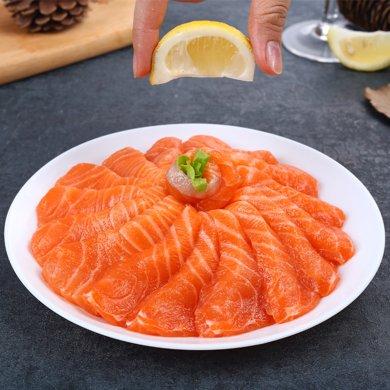 崇鲜 进口冰鲜三文鱼刺身 400g 盒装 生鱼片 海鲜