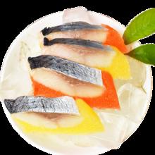 崇鲜冷冻红黄希鲮鱼籽约130g /条*3条 刺身海鲜