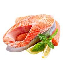 崇鲜挪威进口冷冻三文鱼排350g/袋*3袋三文鱼扒中段海鲜