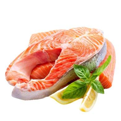 崇鮮挪威進口冷凍三文魚排350g/袋*3袋三文魚扒中段海鮮