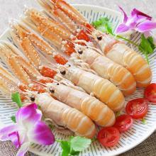 生冻?#39184;?#28145;海鳌虾1000g 海鲜刺身 21-30只/盒鲜活鳌虾