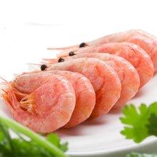 崇鲜俄罗斯头籽北极虾熟冻甜虾刺身500克寿司食材