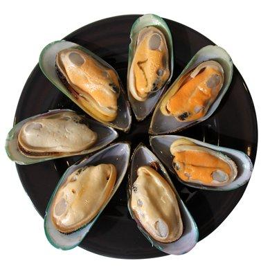崇鮮新西蘭進口半殼青口貝900g/盒 貽貝