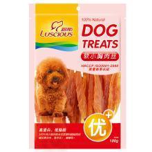 路斯狗狗零食雞小胸軟絲100g雞胸肉干條寵物食品泰迪金毛零食品