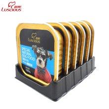 路斯狗罐頭 原味牛肉100g*6狗濕糧包泰迪金毛寵物狗零食狗濕主糧