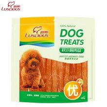 路斯狗狗零食鸡肉软丝400g狗零食泰迪金毛幼犬训练零食鸡肉条宠物零食