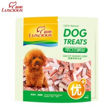 路斯狗狗零食品幼犬鸡肉干400g 泰迪训狗零食品可口三明治肉干