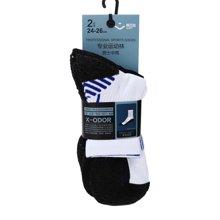 奥百思专业运动袜-男式中筒(2对装)(24-26cm)