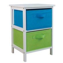 雅客集白色双布抽桌WN-13226  床头柜 储物柜