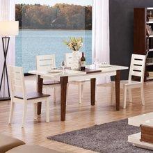 皇家爱慕现代简约客厅钢化玻璃伸缩餐台饭桌餐桌椅餐厅993