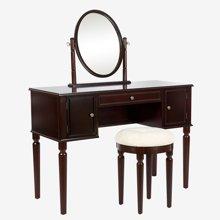 雅客集爱妮梦实木梳妆桌椅WN-17046CH 带翻转梳妆镜 梳妆凳一套