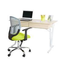 雅客集带抽屉电脑桌办公桌学习桌英帝拉X型脚电脑书桌WN-14079