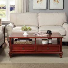 雅客集柯蒂斯咖啡桌 简约美式实木茶几WN-19044/45WA 办公室小桌子