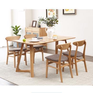 HJMM北歐純實木餐桌椅原木日式橡木餐廳家具簡約現代創意飯桌