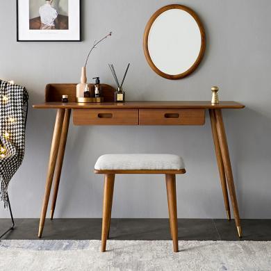 優家工匠 北歐輕奢實木書桌電腦桌寫字臺現代簡約辦公桌簡易學習桌子