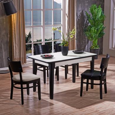 HJMM现代简约客厅钢化玻璃餐台饭桌餐桌椅餐厅2019
