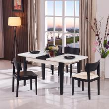 HJMM现代简约客厅钢化玻璃伸缩餐台饭桌餐桌椅餐厅大小户型023