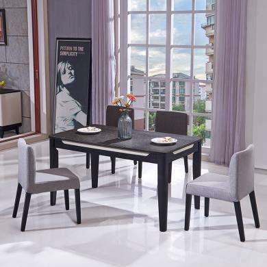 HJMM现代简约客厅钢化玻璃餐台饭桌餐桌椅餐厅2026