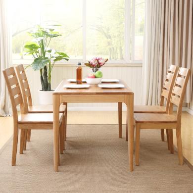 優家工匠 全實木餐桌椅組合橡木小戶型餐廳家具客廳飯桌組合