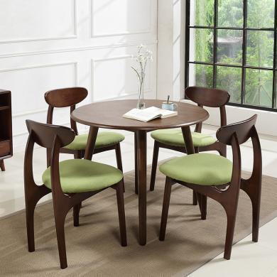 HJMM北歐多功能伸縮餐桌椅胡桃色飯桌臺北歐橡膠木實木折疊大小戶型