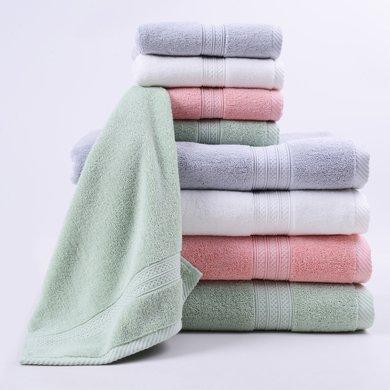 菲爾芙精梳棉素色緞檔方巾(淺粉)THFR26WB(35cm*34cm)