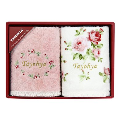 TAYOHYA多样屋花园玫瑰毛巾礼盒纯棉柔软面巾套装