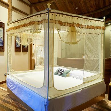 DREAM HOME  山字型外穿桿拉鏈坐床式蚊帳624792